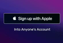صورة ثغرة أمنية تتيح للمتسللين السطيرة على حساب المستخدم عند التسجيل باستخدام Apple