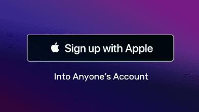ثغرة أمنية تتيح للمتسللين السطيرة على حساب المستخدم عند التسجيل باستخدام Apple