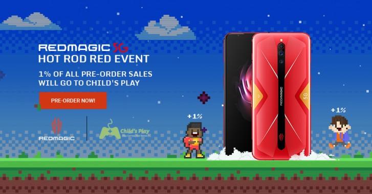 إصدار Red Magic 5G Hot Rod Red يتم طلبه مسبقًا بمهمة خيرية