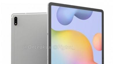 صورة تصميم الجهاز اللوحي +Galaxy Tab S7 ينكشف في صور حاسوبية جديدة، ويضم كاميرتين في الخلف