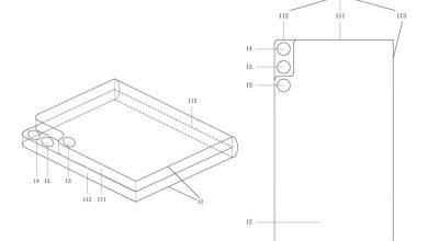 صورة تكشف براءة اختراع Xiaomi المسربة عن إعداد غير عادي للكاميرا لهاتف قابل للطي