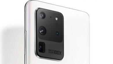 صورة سامسونج تكشف النقاب عن الهاتف Galaxy S20 Ultra Limited Edition White