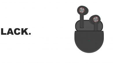 صورة سماعات OnePlus Buds ستأتي باللون الأسود ومع تصميم مألوف