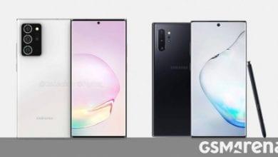 صورة سيحتوي Samsung Galaxy Note20 + على شاشة 19.3: 9 ، ويظهر الاختبار عبر الإنترنت