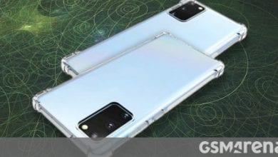 صورة تظهر حالة عرض أن Galaxy Note20 + سيكون له شاشة منحنية ، وستكون شاشة Note20 مسطحة