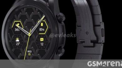 صورة يظهر Samsung Galaxy Watch3 45 ملم من جميع الزوايا ، وأكدت المزيد من الميزات