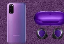 تسريبات مصورة تكشف عن إصدار BTS من هاتف Galaxy S20 Plus وسماعة Galaxy Buds Plus