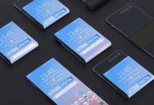 صورة براءة إختراع جديدة لشركة سامسونج في تصميم الهواتف القابلة للطي