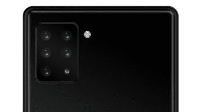 سامسونج تسجل براءة إختراع لهاتف يتميز بعدد 6 من الكاميرات في الجهة الخلفية