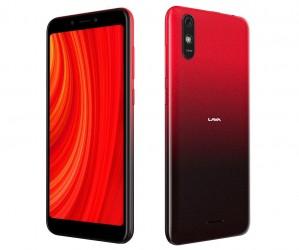 Lava Z61 Pro باللون الكهرماني الأحمر