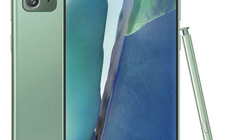 صورة الهاتف Galaxy Note 20 يُقرر الظهور مجددًا، وهذه المرة بحلة خضراء