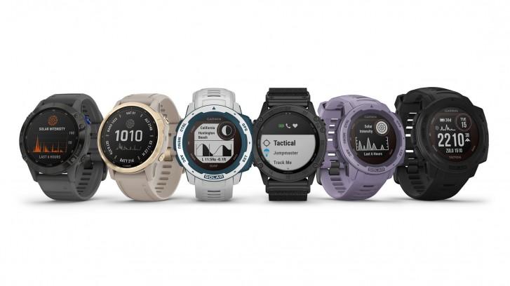 تقوم Garmin بتحديث Fenix 6 و Instinct و Tactix Delta smartwatches بشحن بالطاقة الشمسية