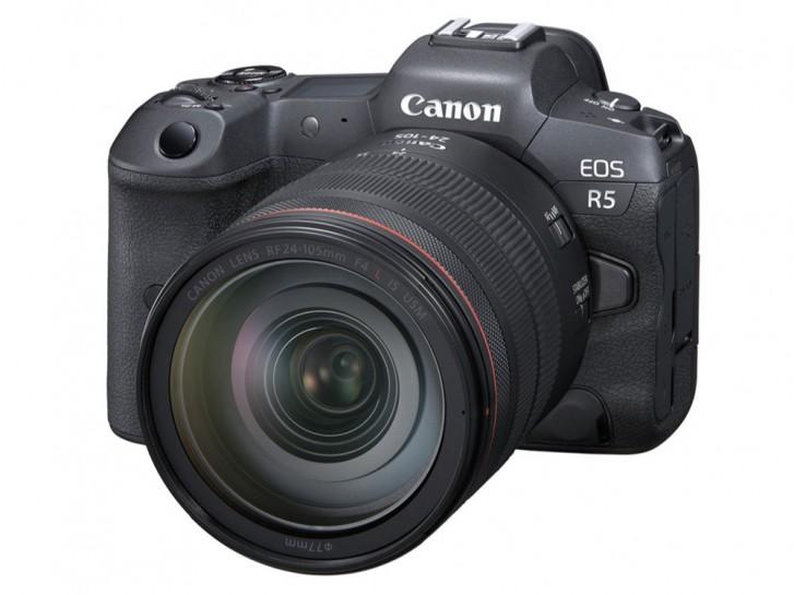 تكشف كانون عن EOS R5 بمستشعر كامل الإطار بدقة 45 ميجابكسل وتسجيل فيديو 8K RAW
