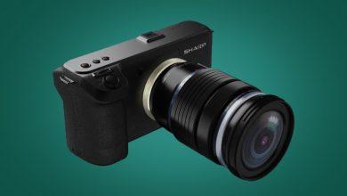 صورة Sharp تنافس كاميرا Canon EOS R5 بكاميرا جديدة بفتحة عدسة قابلة للتبديل بدقة 8K