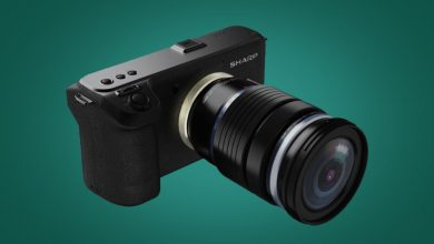 Photo of Sharp تنافس كاميرا Canon EOS R5 بكاميرا جديدة بفتحة عدسة قابلة للتبديل بدقة 8K