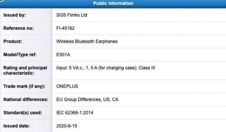 تم اعتماد OnePlus Buds في فنلندا ، إلى جانب OnePlus Nord في 21 يوليو