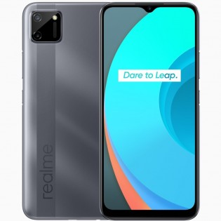 Realme C11 باللون الفلفل الرمادي