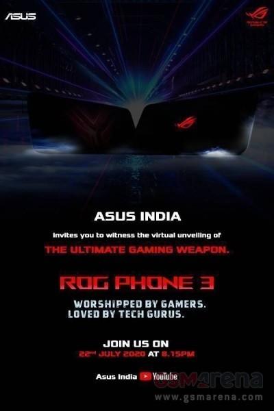 سيظهر Asus ROG Phone 3 لأول مرة في الهند في 22 يوليو