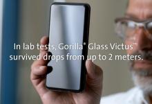 صورة شركة Corning تعلن عن زجاج الحماية Gorilla Glass Victus : لا تخف إذا سقط هاتفك من ارتفاع 2 متر