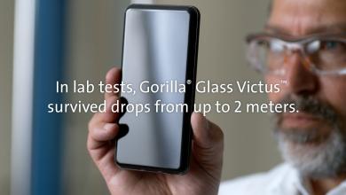 شركة Corning تعلن عن زجاج الحماية Gorilla Glass Victus لا تخف إذا سقط هاتفك من ارتفاع 2 متر