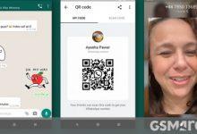 صورة يضيف WhatsApp ملصقات متحركة ورموز QR ووضع مظلم للويب