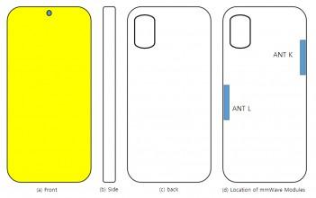 مخططات Samsung Galaxy A71s UW: وضع هوائي mmWave