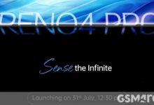 Photo of الإصدار العالمي من هاتف Oppo Reno 4 Pro سيظهر لأول مرة في الهند في 31 يوليو ، وستتبعه دول أخرى في أغسطس