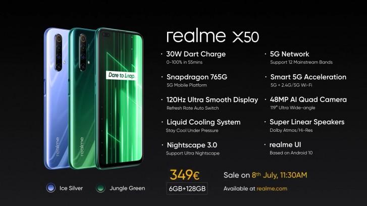 Realme X50 5G متوفر الآن في أوروبا ، وهو في الواقع طراز X50m