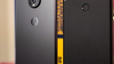 صورة مقارنة بين Motorola Moto Z4 و Google Pixel 3a XL