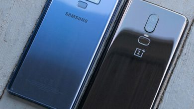 صورة هاتف Samsung Galaxy Note 9 مقابل OnePlus 6