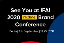 Realme تؤكد على عقد مؤتمرها في فعاليات IFA 2020 يوم 4 من سبتمبر