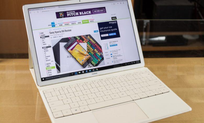 مراجعة الجهاز اللوحي : Huawei MateBook