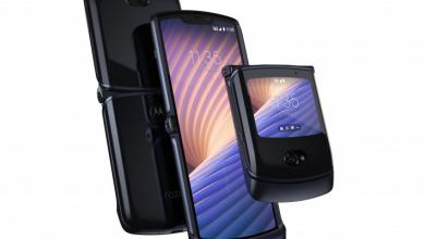 صورة الإعلان الرسمي عن هاتف موتورولا Motorola Razr 5G بالتصميم الصدفي القابل للطي