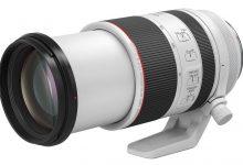 صورة تم رصد براءة اختراع Canon RF 70-200mm f / 4L IS USM الجديدة