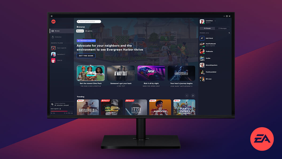 EA Origin تطبيق PC