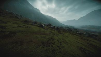 صورة يستكشف مصور المناظر الطبيعية صعود التصوير الفوتوغرافي داخل اللعبة