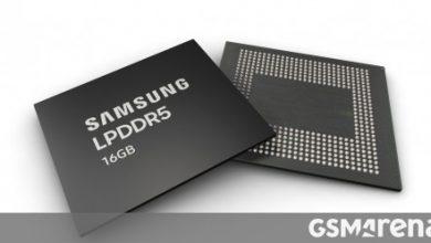 صورة سامسونج تبدأ في الإنتاج الضخم لرقائق 16 جيجابايت LPDDR5 DRAM