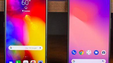 صورة مقارنة بين Google Pixel 3 XL و LG V40 ThinQ