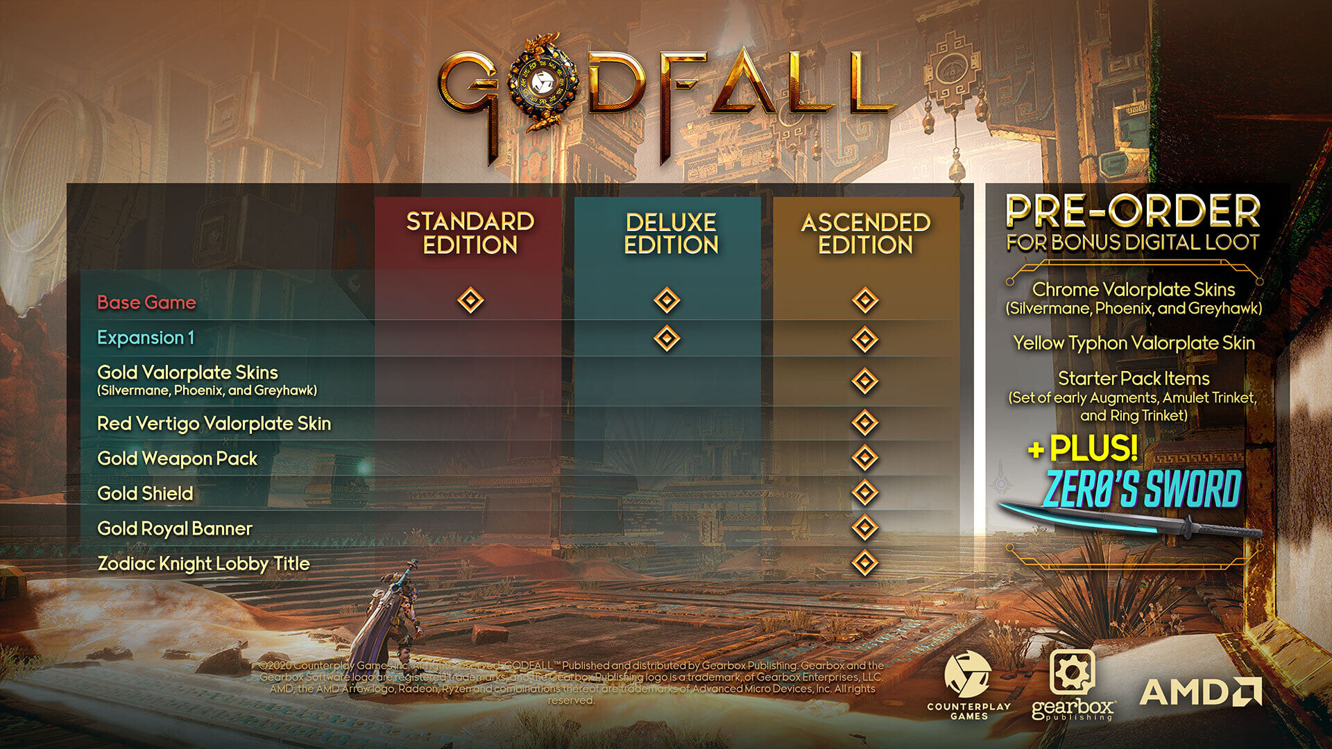 Godfall PS5 Gearbox Counterplay PC