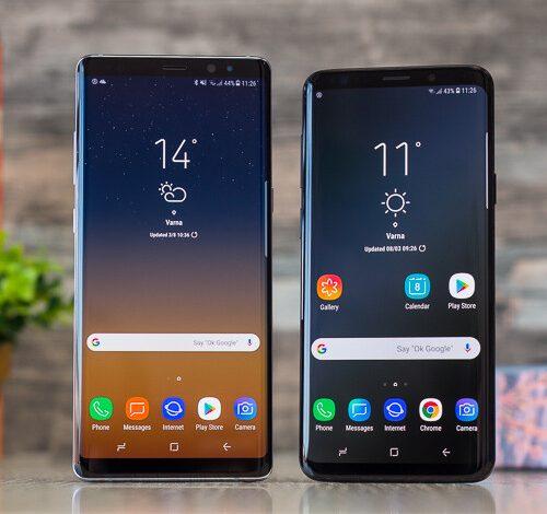 صورة Samsung Galaxy S9 + vs Galaxy Note 8