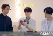 صورة شاهد الفرقة الكورية BTS وهي تفتح علبة هاتف Samsung Galaxy Z Fold2 في هذا الفيديو