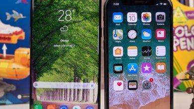 صورة Apple iPhone X و Samsung Galaxy Note 8