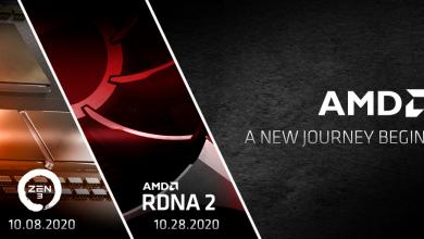 AMD تحدد يوم 8 من أكتوبر للإعلان عن Zen3 و28 من أكتوبر للإعلان عن Radeon RX 6000