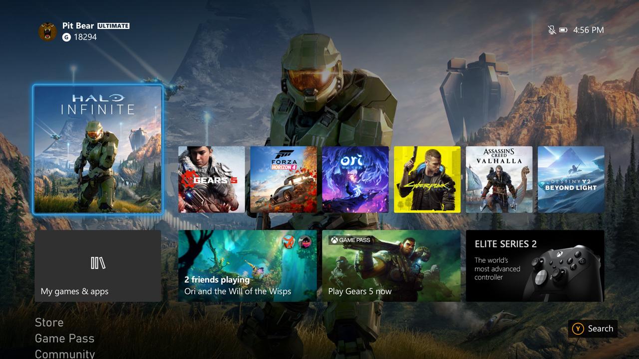 Xbox Series X|S واجهة المستخدم Xbox تحديث أكتوبر