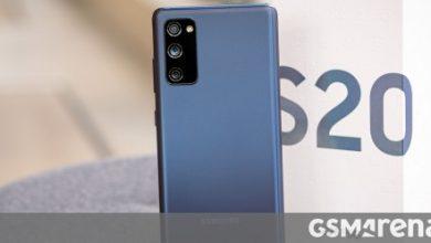 صورة Samsung Galaxy S20 FE قيد المراجعة
