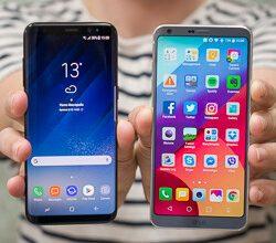 صورة Samsung Galaxy S8 مقابل LG G6