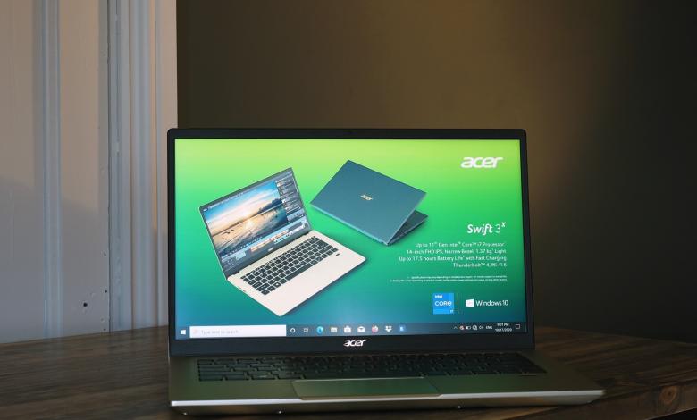 صورة Acer Swift 3X أول أجهزة الحاسب المحمول المميزة بكرت Intel Xe Max