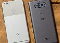 صورة مقارنة بين Google Pixel XL و LG V20