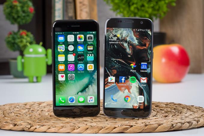 مقارنة بين Apple iPhone 7 و Samsung Galaxy S7