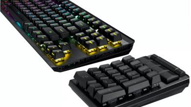 Asus تكشف عن لوحة مفاتيح ميكانيكية وفارة لاسلكية للألعاب #CES2021